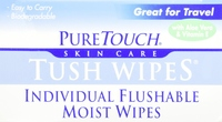 Flushable Tush Wipes
