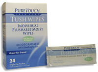 Medicated Flushable Tush Wipes