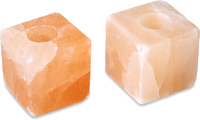 Zennery Himalayan Salt Cube Shaped Candle Holders - Set of 2