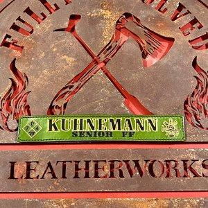 Green Custom Leather Locker Tag