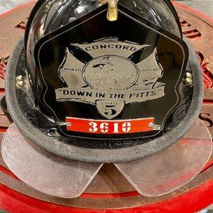 Custom Firefighter Stainless Steel Helmet Shield Front w/ Custom Image