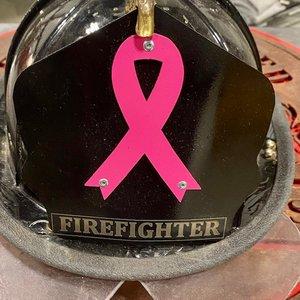 Breast Cancer Awareness Stainless Fire Helmet Shield