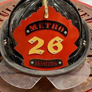 FIL Firefighter Custom Stainless Steel Helmet Shield Front