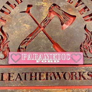 Pink Custom Leather Locker Tag