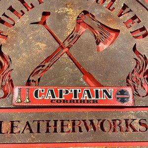 Red Custom Leather Locker Tag