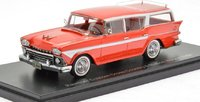 1958 Rambler Customs Cross Country 6 Station Wagon Red in 1:43 by NEO