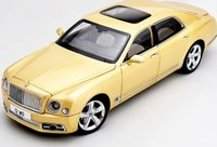 Bentley Mulsanne Speed in Yellow Diecast in 1:18 Scale by Almost Real