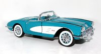 1960 Corvette Convertible Tasco Turquoise in 1:24 scale by The Franklin Mint