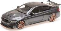 2016 BMW M4 GTS in grey metallic, 1:18 scale by Minichamps