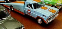 1970 FORD F-350 RAMP TRUCK- GULF- in 1:18 scale by Acme