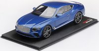 Bentley New Continental GT in Sequin Blue in 1:18 Scale by Topspeed