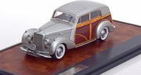1950 Harold Radford Countryman Saloon on Bentley MKVI Chassis #B441DZ in Grey/Wood Resin Model Car in 1:43 Scale by Matrix