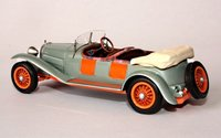 1926 Bugatti Type 38 Tourer Lavocat & Marsault - Open in Grey/Orange Resin Model Car in 1:43 Scale by Ilario