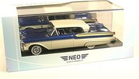1957 Mercury Turnpike Coupe in Metallic Blue and white Model Car in 1:43 Scale by Neo