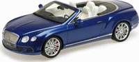 2013 Bentley Continental Gt Speed Convertible in Blue Resin Model Car in 1:18 Scale by Minichamps