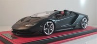 Lamborghini Centenario Roadster Black in 1:18 Scale by MR Collection