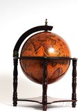 Globe bar 13 inches 4 legged stand-red by Old Modern Handicrafts