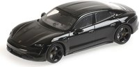 2020 Porsche Taycan Turbo S black in 1:43 scale by Minichamps