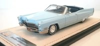 1968 Cadillac Deville Convertible Open top  Arctic Blue in 1:43 Scale by GLM