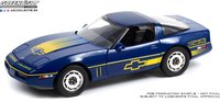 1988 Chevrolet Corvette C4 Blue in 1:18 Scale by Greenlight