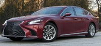 Lexus LS500h Red With Black Interior in 1:18 Scale by AUTOart