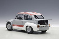 Fiat Abarth 1000 TCR in Matt Grey/Red Stripes Model Car in 1:18 Scale by AUTOart