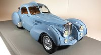 1936 Bugatti 57S Atlantic sn57473 in Blue Model Car in 1:18 Scale by Ilario