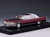 1974 Cadillac Coupe Deville Cranberry Metallic in 1:43 Scale by Stamp Models