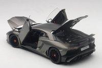 Lamborghini Aventador LP750-4 SV, Grigio Titans/Matt Grey Composite Model Car in 1:18 Scale by AUTOart