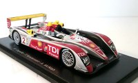 Audi R10 No. 2 2008 Le Mans Winner in 1:43 Scale by Spark