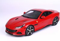 Ferrari Portofino M Spider closed roof Rosso Corsa w/display in 1:18 scale by BBR