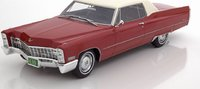 1967 Cadillac Deville Coupe Red 1:18 Scale by BoS Models