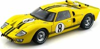 1966 Ford GT40 Mk II #8 Yellow in 1:18 Scale by Shelby Collectibles