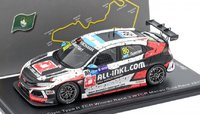 Honda Civic Type R TCR No.86 Winner Race 3 WTCR Macau Guia Race 2018 in 1:43 Scale by Spark