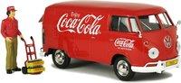 1963 Volkswagen Type 2 (T1) Cargo Van with NEW delivery driver figurine, handcart and 2 bottle cases