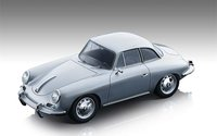 1961 Porsche 356 Karmann Hardtop Silver Metallic in 1:18 Scale by Tecnomodel