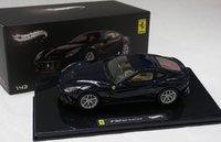 FERRARI F12 Berlinetta in Blue Model Car by Mattel Elite in 1:43 Scale