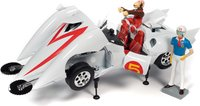 Speed Racer Mach 5 w/Chim-Chim and Speed Racer figure in 1:18 scale by Auto World
