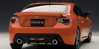 Toyota 86, Asian Version - RHD in Orange Metallic Diecast Model Car in 1:18 Scale by AUTOart