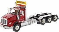 International HX620 Tandem Tractor in Red by Diecast Masters in 1:50 Scale