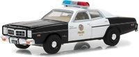 1977 Dodge Monaco Metropolitan Police The Terminator (1984) in 1:64 scale by Greenlight