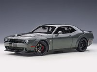 2018 Dodge Challenger Hellcat in Destroyer Grey in 1:18 Scale by AUTOart
