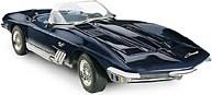 1965 Corvette Mako Shark diecast model in 1:24 Scale by The Franklin Mint