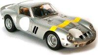 1962 Ferrari 250 GTO in Silver Resin Model Car in 1:43 Scale by Illario