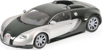 2009 Bugatti Veyron Edition Centenaire in Chrome/Green Diecast Model Car in 1:18 Scale by Minichamps