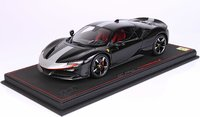 Ferrari SF90 Stradale Pack Fiorano Black with Display Case in 1:18 scale by BBR