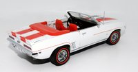 1969 Chevrolet Camaro SS *RARE* White w/Hugger Orange stripe in 1:24 scale by Dambury Mint