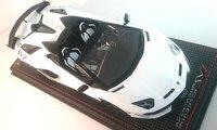 Lamborghini Aventador SVJ Roadster Bianco Phanes in 1:18 Scale by MR Collection