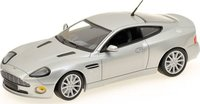 2004 ASTON MARTIN VANQUISH S in SILVER Diecast Model Car in 1:43 Scale by Minichamps