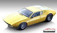 1971 De Tomaso Mangusta Gloss Yellow in 1:18 Scale by Tecnomodel